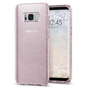 Spigen Liquid Crystal Glitter Samsung Galaxy S8 Rose Quartz tok